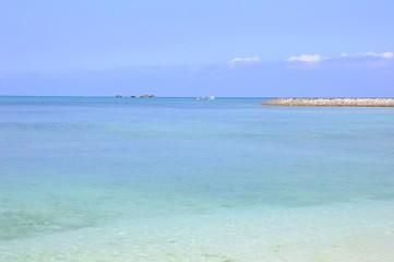 Beautiful Tropical Beach in Okinawa Island, Japan