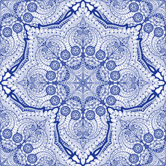 Seamless vector background. Paisley floral pattern.