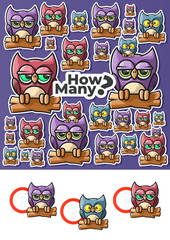 Owls Counting. Children's Educational Game