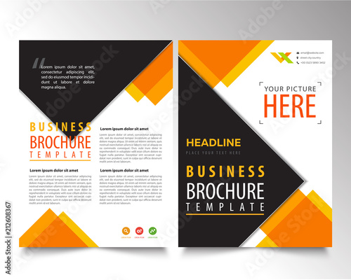 Brochure Geometric Design Template Flyer Simple Vector