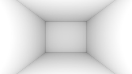 White empty room background