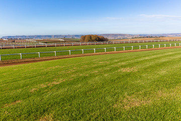 Race Horse Training Sand Grass Tracks Scenic Landscape