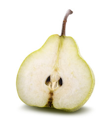 Fresh pear isolated on white background. Clipping path