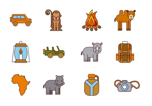 20 Colorful Safari Icons