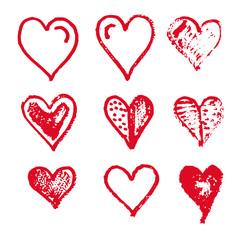 Hand drawn heart icon design