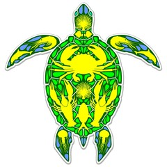 Sea Turtle Reef Marine Life Abstract Symbol Tattoo Style