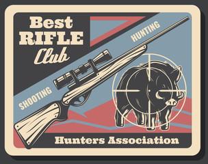 Vector retro poster for hunters association