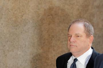 Film producer Harvey Weinstein arrives at Manhattan Criminal Court in New York City