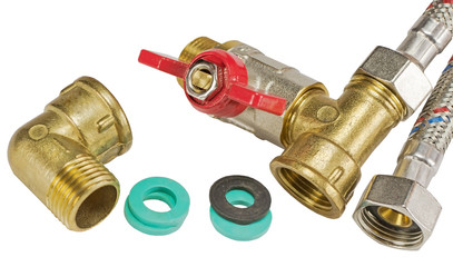 flexible fitting, ball valve and o-ring gaskets