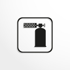 Gas-burner. Vector icon.