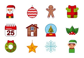 20 Colorful Christmas Icons