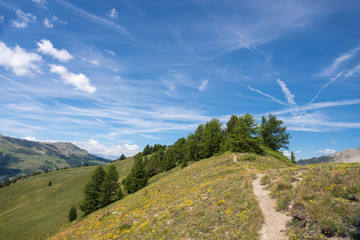 Cielo terso in montagna oltre 2.000 metri