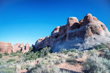 Arches National park summer landscape, Utah