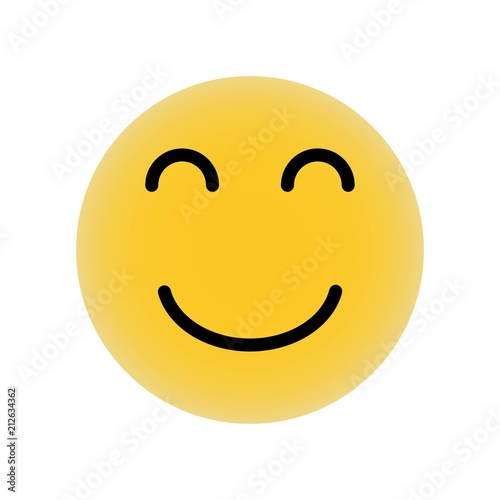 Emoticon Square Smiling Face With Closed Eyes Icon Vector Icon