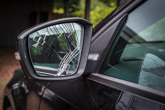 beschädigter Außenspiegel