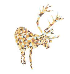 vector christmas card. triangle reindeer deer. merry snow flake. creative modern contemporary trend trendy. 2017 2018. xmas. starry night