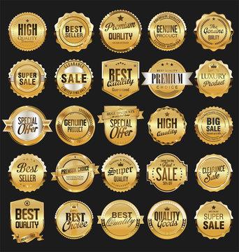 Retro vintage badges collection