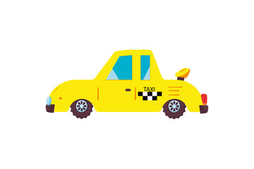 Funny little car working in a taxi