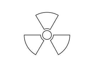 Nuclear radiation warning symbol vector