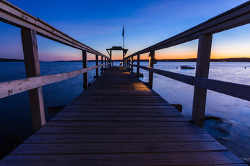 Ocean Pier At Sunset