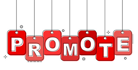 red flat line tag promote