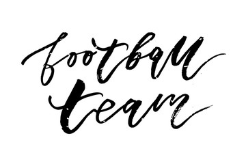 Football team Vector Phrase Lettering Calligraphy