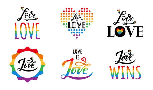 gay love lgbt set