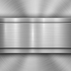 Fototapete - Metal technology background with circular and straight polished, brushed texture, chrome, silver, steel, aluminum for design concepts, wallpapers, web and prints . Vector illustration