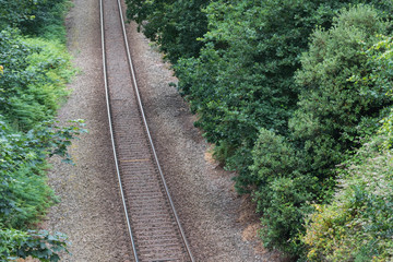 Single-track railway line