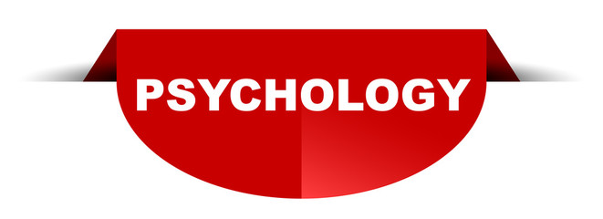 red vector round banner psychology