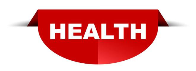 red vector round banner health