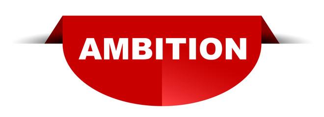 red vector round banner ambition