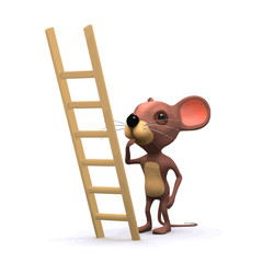 Vector 3d Mouse wants to climb ladder