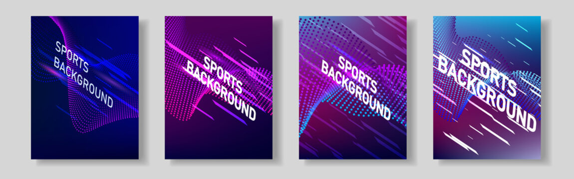Color network of sports covers. For your design.