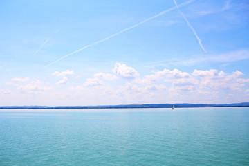 Balaton Hungary Tihany European big lake view 2018