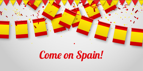 Come on Spain! Background with national flags.