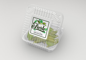 2 Clear Clamshell Food Container Mockups
