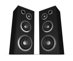 speaker concept 3d illustration