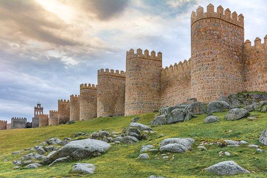 Walls of Avila, World Heritage Site in Spain
