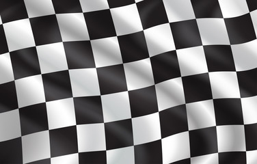 Vector checkered flag pattern background