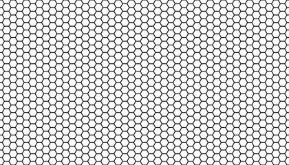 Black honeycomb on a white background. Seamless texture. Isometric geometry. 3D illustration