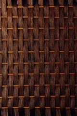 brown basket weaving wood background