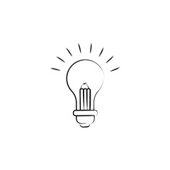 light bulb and pencil icon. Element of idea icon for mobile concept and web apps. Sketch style light bulb and pencil icon can be used for web and mobile. Premium icon