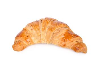 fresh yummy croissant on white background