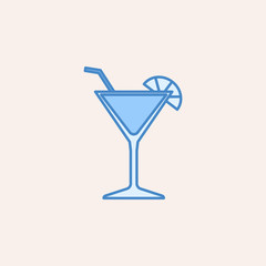 cocktail icon. Element of casino icon for mobile concept and web apps. Field outline cocktail icon can be used for web and mobile
