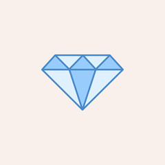 diamond icon. Element of casino icon for mobile concept and web apps. Field outline diamond icon can be used for web and mobile