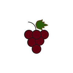 grapes colored icon. Element of fruits and vegetables icon for mobile concept and web apps. Colored grapes icon can be used for web and mobile. Premium icon
