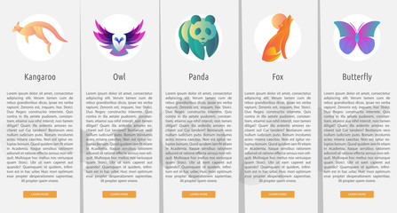 Animal Character Vertical Banner Concept