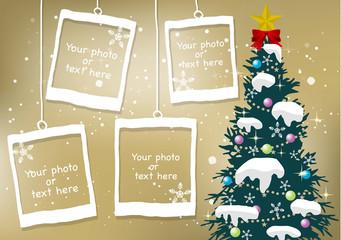クリスマス・新年の背景素材13