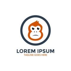 ape logo template. monkey